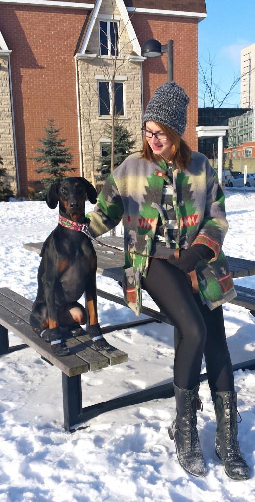 Verena Schleich, KPA CTP Dog trainer and her doberman Athena