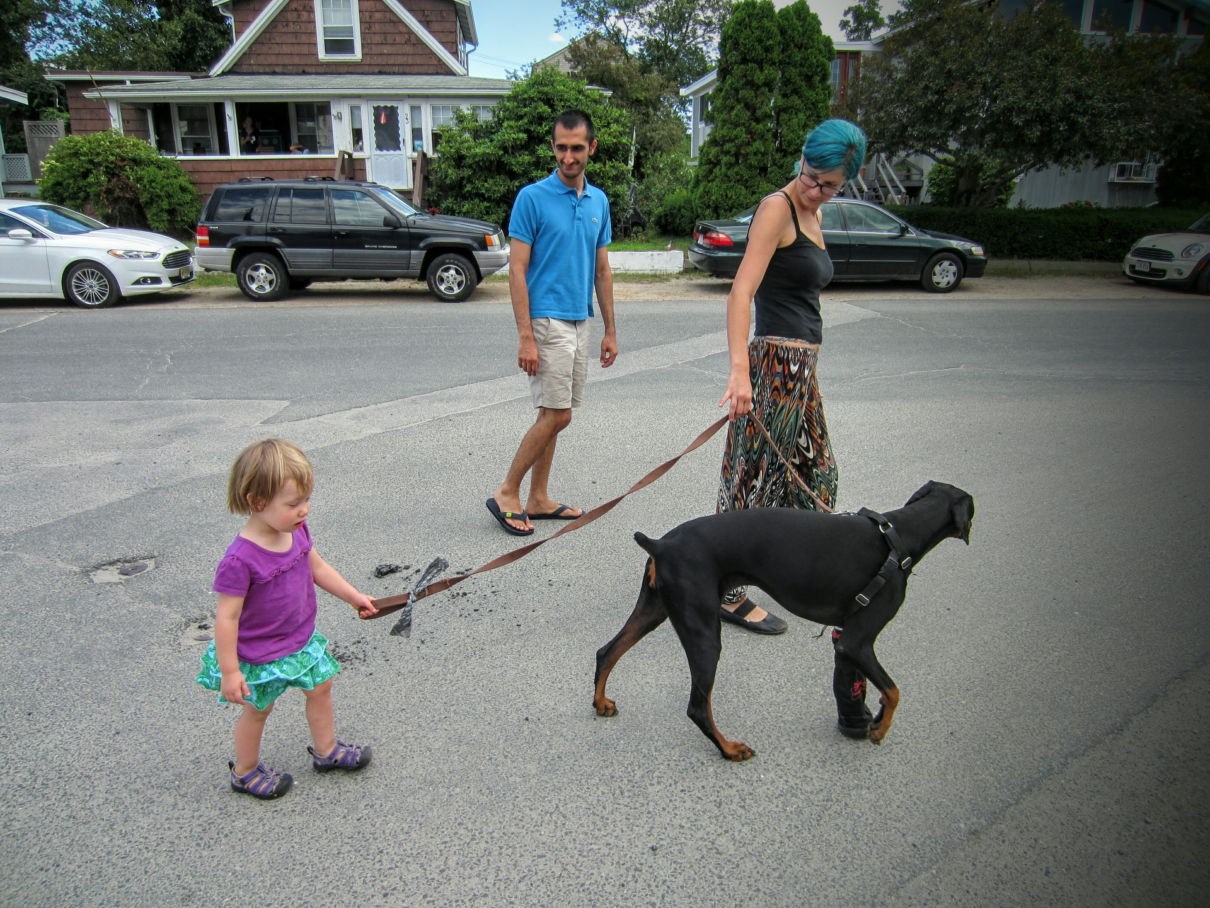 Auntie Verena is raising a dog walker in the making! (photo cred: Aloisia Soutar)